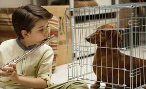 Keaton Nigel Cooke and Wiener-Dog