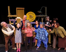 Steve TouVelle, Laila Haley, John Donald O'Shea, Ali Girsch, Gina Cox, Payton Wilson, Corey Delathower, Jane Driscoll, and Yvonne Siddique in Willy Wonka