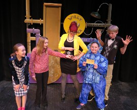 Lailey Haley, Ali Girsch, Sara Wegener, Payton Wilson, and Corey Delathower in Willy Wonka