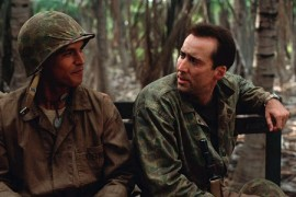 Adam Beach and Nicolas Cage in Windtalkers