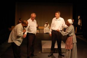 Kermit Thomas, Jim Strauss, Don Faust, and Shellie Moore Guy in A Woman Called Truth