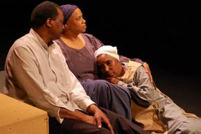 Renaud Haymon, Gina Davis, and Shellie Moore Guy in A Woman Called Truth
