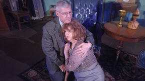 James Driscoll and Patti Flaherty in Who's Afraid of Virginia Woolf?
