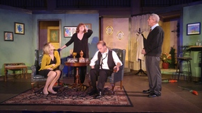 Jenny Winn, Patti Flaherty, Jonathan Grafft, and James Driscoll in Who's Afraid of Virginia Woolf?