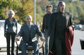 Halle Berry, Patrick Stewart, Hugh Jackman, and Ian McKellen in X-Men: The Last Stand