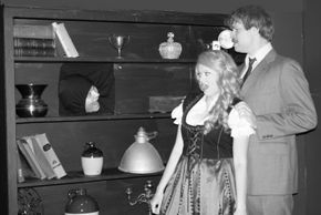 Nate Karstens, Abbey Donohoe, and Ian Sodawasser in Young Frankenstein