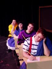 J. Adam Lounsberry, Jodi McGinn, Dan McGinn, and Kevin Snell in You're a Good Man, Charlie Brown