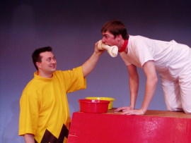 J. Adam Lounsberry and Nathan Bates in You're a Good Man, Charlie Brown