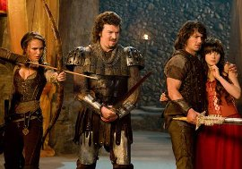 Natalie Portman, Danny McBride, James Franco, and Zooey Deschanel in Your Highness