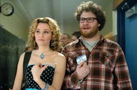 Elizabeth Banks and Seth Rogen in Zack and Miri Make a Porno